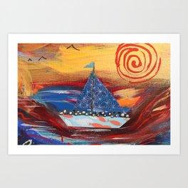 Pilgrims Journey Art Print