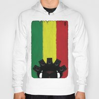 reggae Hoodies featuring Reggae King by JRV Distorted Works