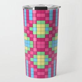 Checkerboard Squares Abstract Travel Mug