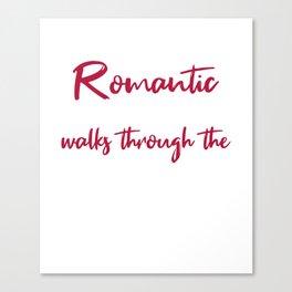 Romantic walks through Hardware Canvas Print
