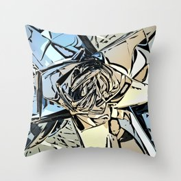 Halftones Abstract Throw Pillow