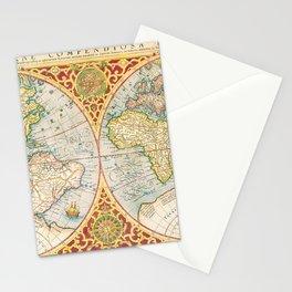 Orbis terrae compendiosa descriptio  quam ex magna universali Gerardi Mercatoris Domino Richardo Gartho geographie ac ceterarum bonarum artium amatori ac fautori summo (1637) by Gerhard Mercator Stationery Cards