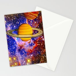 Stars and Planets Stationery Cards