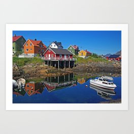 Clear Summerday on Lofot Islands Art Print