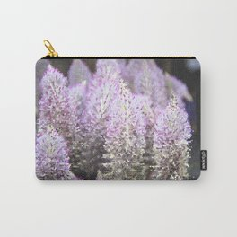 Mosaic Purple Flowers Carry-All Pouch