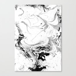 // MARBLED WHITE // Canvas Print