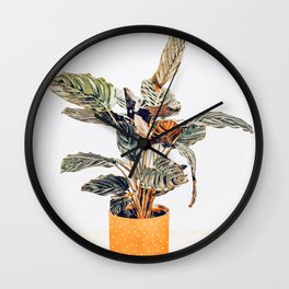 Botany || #illustration #painting #nature Wall Clock