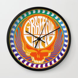 Psychedelic Stealing Head Wall Clock