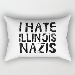 I Hate Illinois Nazis Rectangular Pillow