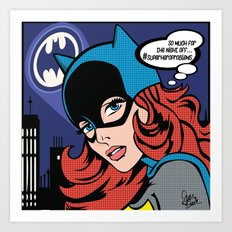 #superheroproblems Batgirl Art Print