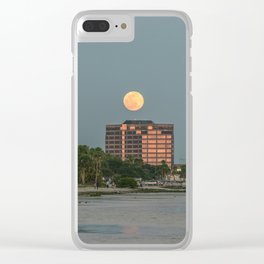 Moon is Out Clear iPhone Case