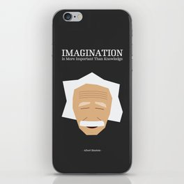 Lab No. 4 - Albert Einstein Inspirational Quotes Typography Poster iPhone Skin