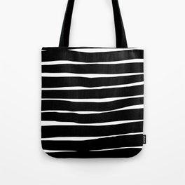 Stripes - Black Tote Bag