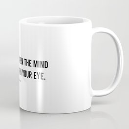 The Archives 1 - Black & White Poetry - Open Mind Third Eye Consciousness Coffee Mug