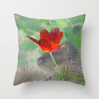 tulip Throw Pillows featuring Tulip by LoRo  Art & Pictures