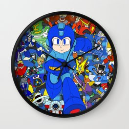 Fight Mega Man, For Everlasting Peace! Wall Clock