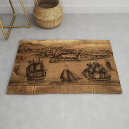 Map Of Curacao 1800 Rug