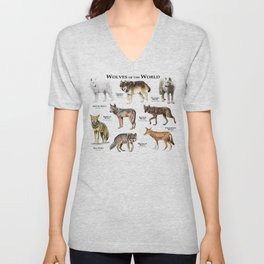 Wolves of the World Unisex V-Neck