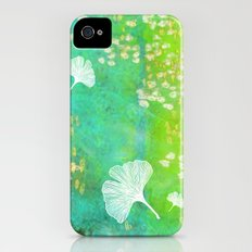 Green Ginkgo Tile Slim Case iPhone (4, 4s)