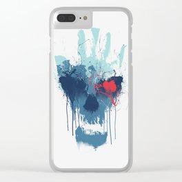 Brush Skull Clear iPhone Case