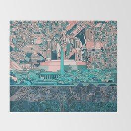 washington dc city skyline Throw Blanket