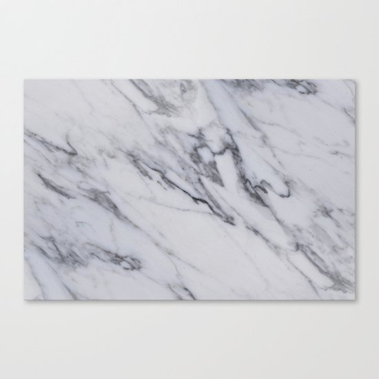 Marble Black And White Gray Swirled Marble Design Canvas