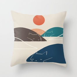 Cat Landscape 1 Throw Pillow