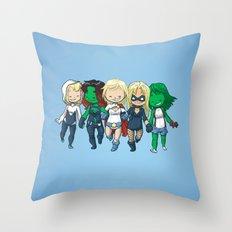 Super BFFs 2 Throw Pillow