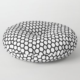 Black and white honeycomb pattern Floor Pillow
