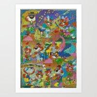 acid Art Prints featuring Acid by Advart