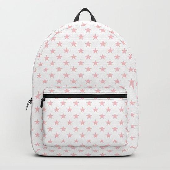 Millennial Pink Pastel Stars on White by podartist