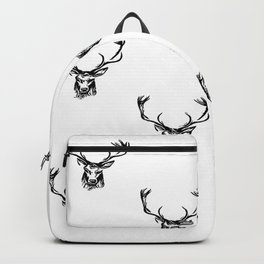 Christmas Deer Stag Antler Pattern Backpack