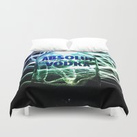vodka Duvet Covers featuring Absolut Vodka by Rothko