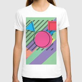 90s Retro Colored Shapes v4 T-shirt