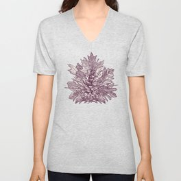 forest floor berry ivory Unisex V-Neck