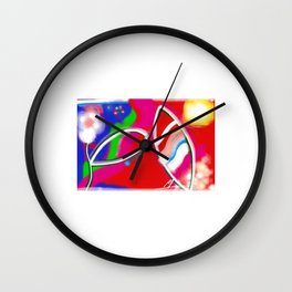 3 in white Wall Clock