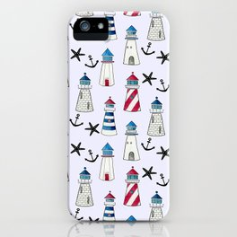 Watercolor Lighthouses iPhone Case