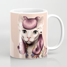Ramona The Cat - Background Color: Nude Coffee Mug