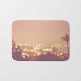 Summer Nights. Los Angeles at night photograph. Bath Mat