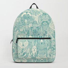 canadian animals teal pearl Backpack