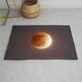 Lunar Eclipse Blood Moon Rug