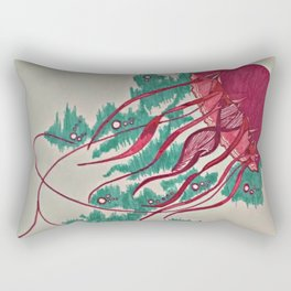 Colorful Jellyfish Rectangular Pillow