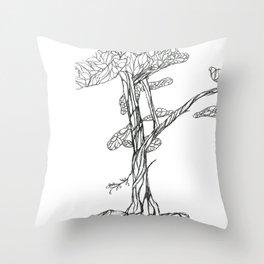 Tree on Bank of Eno Throw Pillow