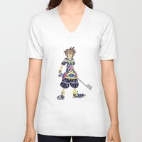 kingdom hearts V-neck T-shirts featuring Kingdom Hearts: Sora by NeleVdM