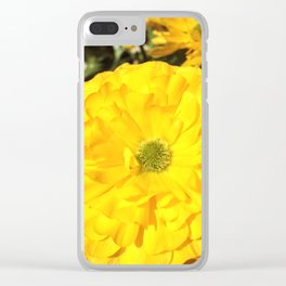 Yellow Zinnias Clear iPhone Case