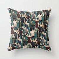 concert Throw Pillows featuring Concert pattern by David van der Veen