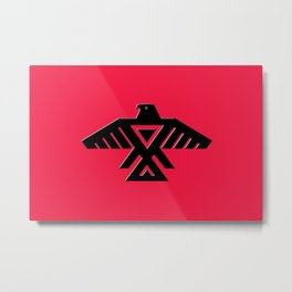 Thunderbird flag - Black on Red variation Metal Print