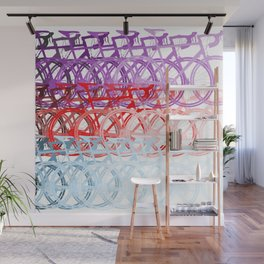 Bicycles palette Wall Mural