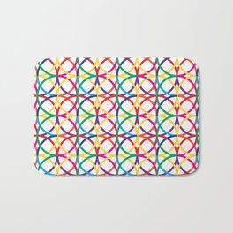 Rainbow Circles Pattern Bath Mat