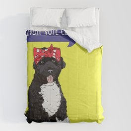 Portugese Water Dog. Political Pup -Every Vote Counts  Comforters